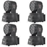 4 pcs 7x10w mini beam light rgbw 4in1 wash wall moving head light stage dj light
