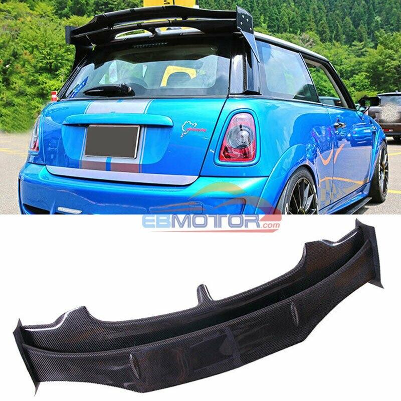 Carbon Fiber AG Roof Wing Spoiler For BMW Mini Cooper S R56 R57 06-13 B495