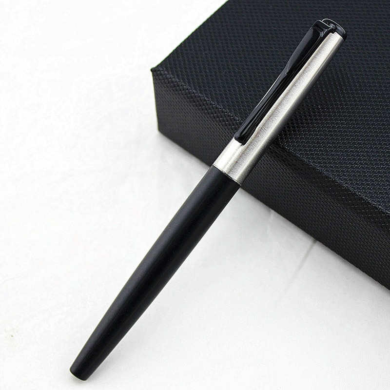 Office luxury pen ballpoint pens For school Students stainless steel ball pen back to school For Gift Stationery Supplies stainless steel metal ballpoint pen office school supplies stylus pens writing supplies roller ball point pens nice gift