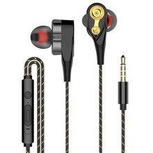 Amorno casque découteurs dans loreille, à bobine Double déplacement de 3.5mm, casque découteurs sans fil à quatre, jeu de casques découte dynamiques, casque micro intégré