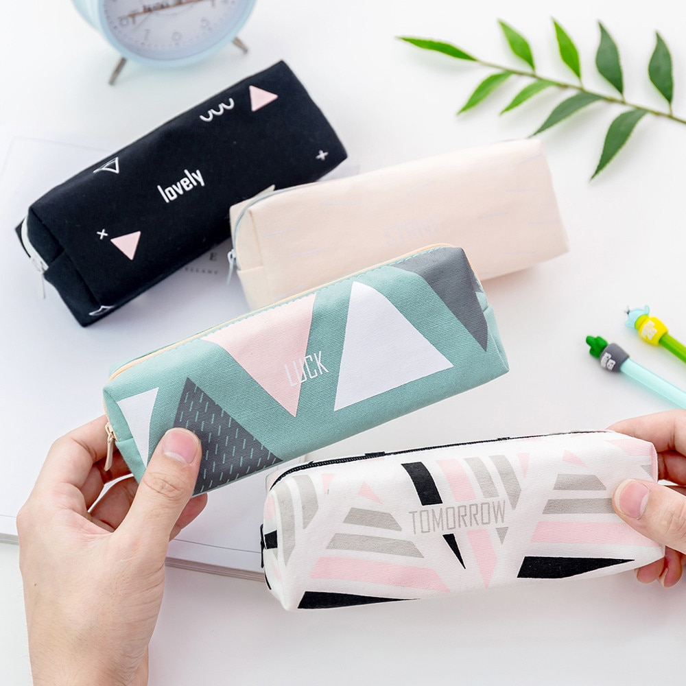 Big Capacity Pencil Pen Case Bag For Middle High School Office College Girl maquiagem profissional c