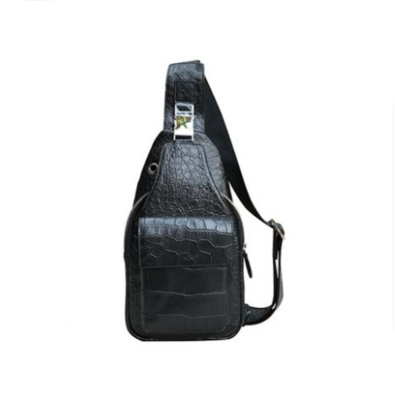 Yongliang new style crocodile man chest bag fashionable personality bag leather single shoulder men bag