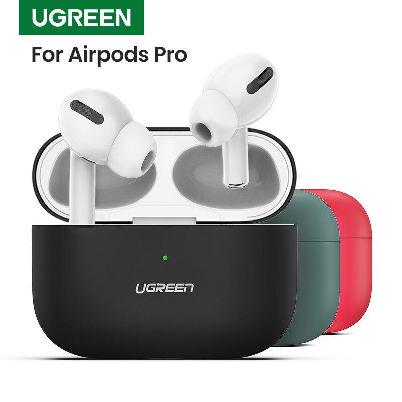 Ugreen אוזניות מקרה עבור AirPods פרו סיליקון כיסוי אלחוטי Bluetooth אוזניות עבור אוויר תרמילי פאוץ מגן עבור AirPod 3 מקרה