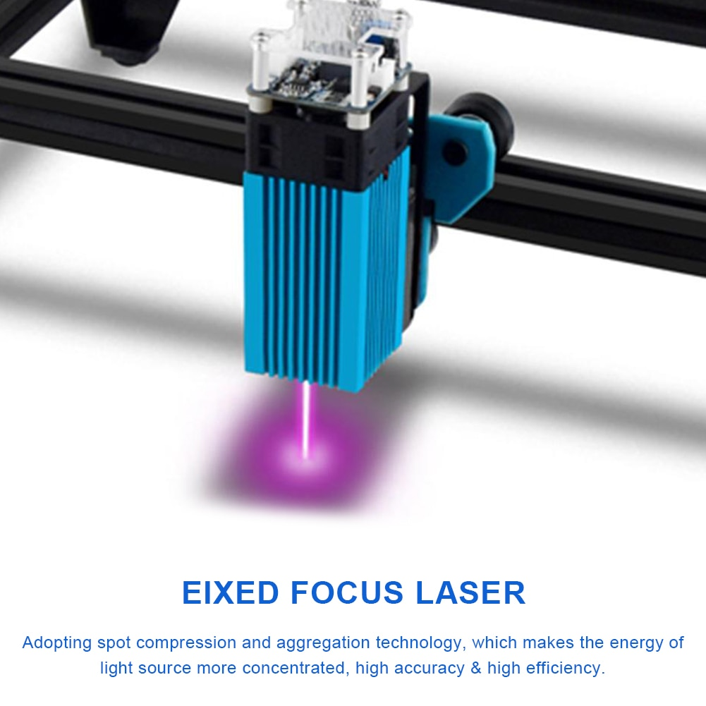 40W Module Head FAC 5.5W 450nm Module Engraver With Focus Block For Wood Metal Engraving For Stainless Steel Plastic Wood Paper enlarge