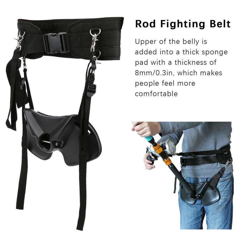 Adjustable Fishing Rod Fighting Belt Waist Rod Support Holder Fishing Pole Fixing Belt Fishing Rod Holder for Boat Sea enlarge