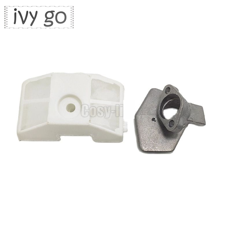 2pcs Carburetor Bracket Base Adaptor Air Filter Kit For Chinese Chainsaw 4500 5200 5800 52/58cc Garden Tool Replace Spare Part