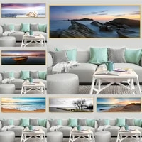 canvas painting modern natural landscape poster sky sea sunrise painting printed on wall art pictures for living room home decor