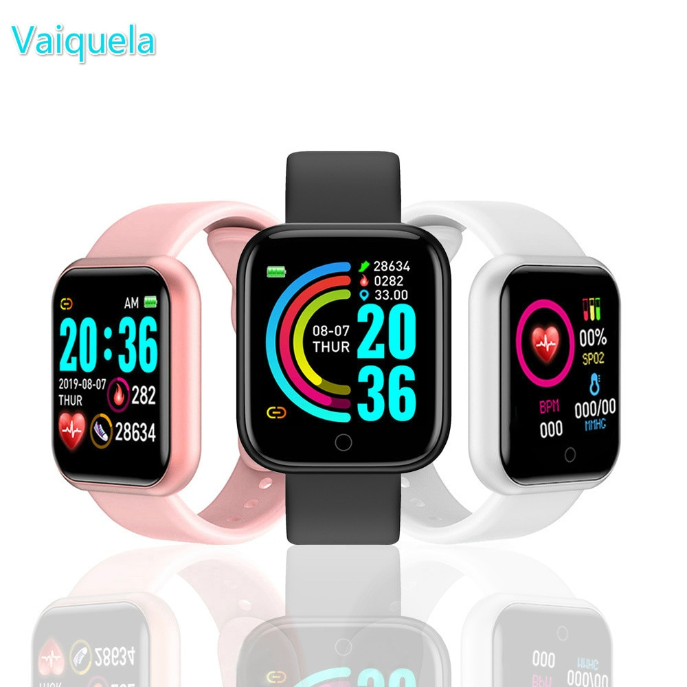 Digital Watch Y68 Smart Watch Fitness Bracelet Activity Tracker Heart Rate Monitor Blood Bluetooth Watch for ios Android Hours ezon gps watch smart bluetooth optical sensor heart rate monitor digital sport watch for android ios phone men saat reloj hombre