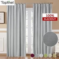 blackout curtain for living room bedroom window treatment blinds finished drapes solid color kitchen shading curtain custom made