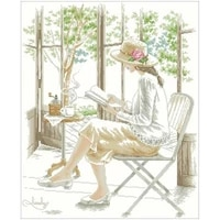 girl reading patterns counted 11ct 14ct 18ct diy cross stitch sets wholesale cross stitch kits embroidery needlework
