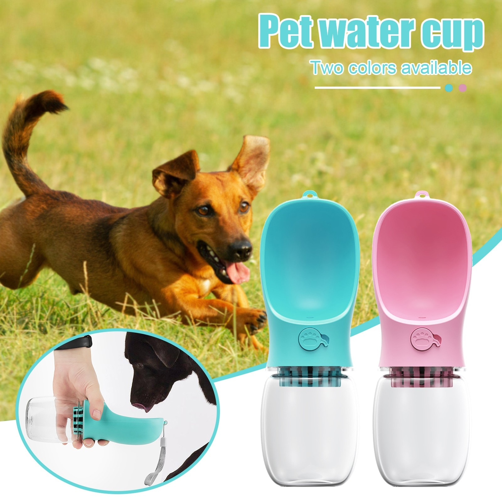 350/500ML Automatic Portable Pet Dog Water Drinker Bottle Drinking Bowl Outdoor Dispenser Feeder Product Supplies