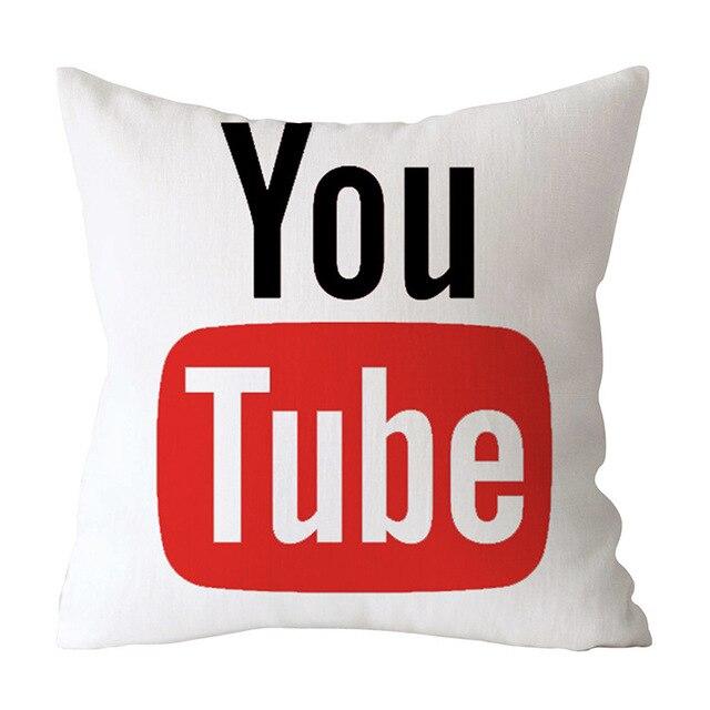 Модный Чехол на подушку с фейсбуком, Wechat, Skype, Viber, чехол на диванную подушку, Tango, Youtube, Snapchat, Instagram, Чехол на подушку