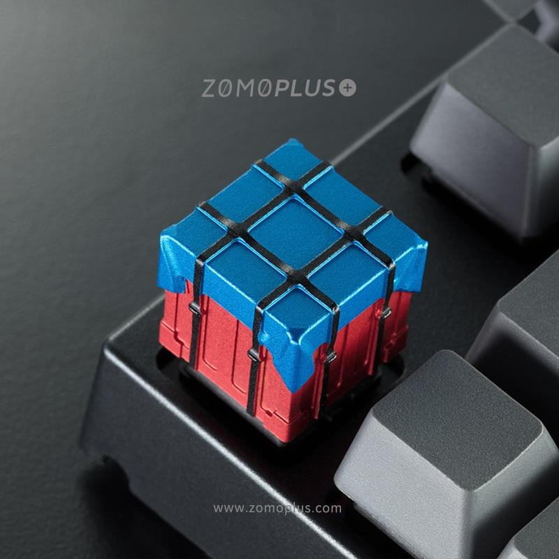 1 قطعة زومو الألومنيوم سبائك مفتاح كاب ل PUBG Airdrop مربع 3D كيكابس متوافق مع الكرز MX مفاتيح الميكانيكية لوحة المفاتيح