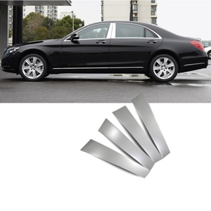 stainless steel car window middle post trims for mercedes benz S320 s420 s500 s600 S300 2014-2018 2017 2016 w222