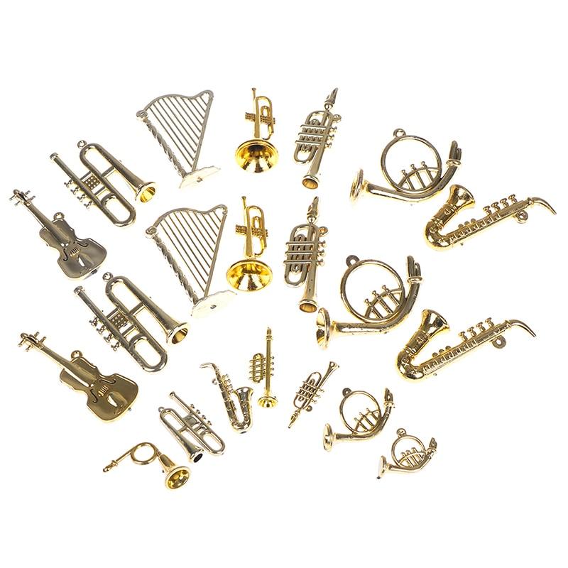 Mini instrumento Musical de plástico para Año Nuevo, decoraciones de Navidad para...