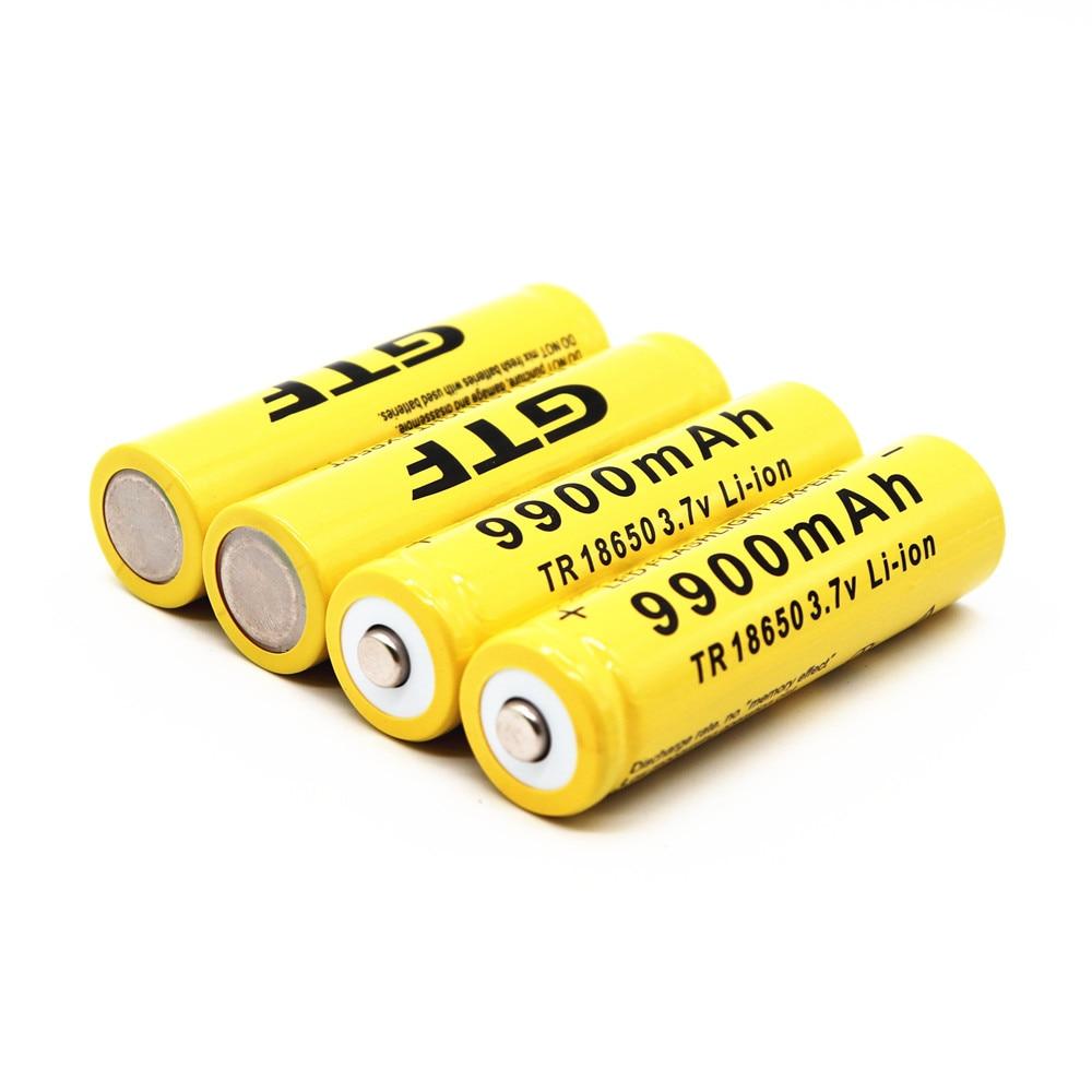 1-10 Uds dosidada TR 18650 batería 3,7 V 9900mAh batería recargable Li-Ion vierta linterna LED caliente nueva alta calidad