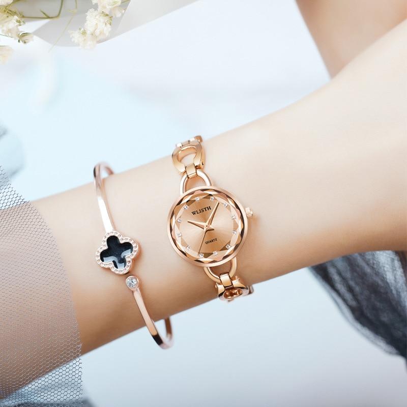 часы женские наручные часы женские часы женские наручные2021 Часы наручные женские кварцевые с браслетом из нержавеющей стали