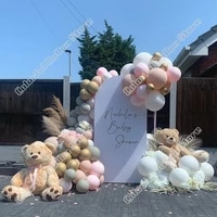 77pcs birthday party wedding maca pink latex balloon arch kit cream peach balloon garland baby shower event celebration decor