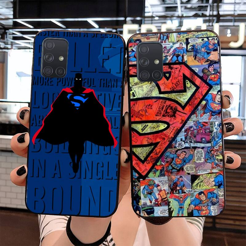CUTEWANAN DC hero superman Weichen Silikon Schwarz Telefon Fall für Samsung S20 plus Ultra S6 S7 rand S8 S9 plus s10 5G lite 2020