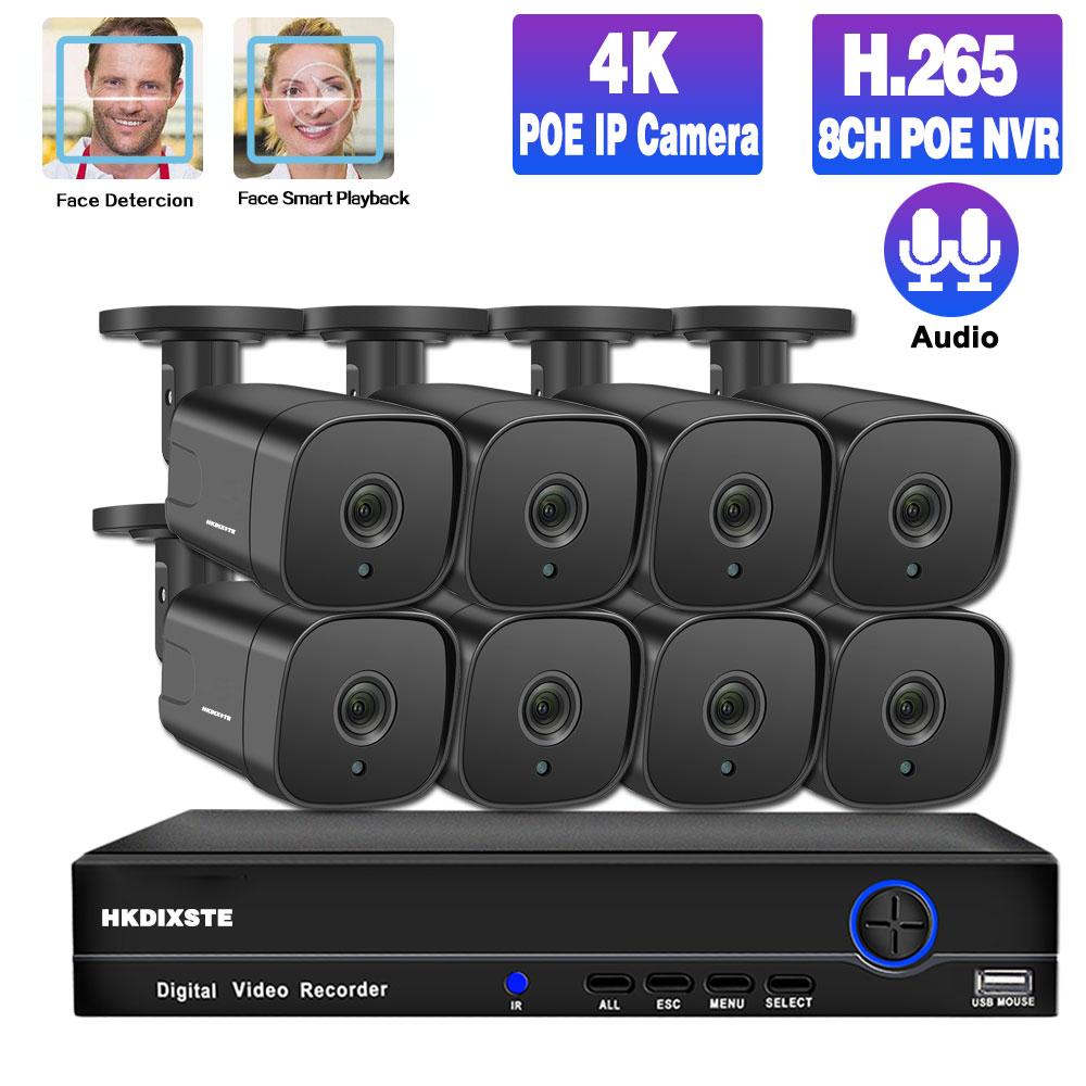 Система видеонаблюдения, 8 каналов, POE, 4K, NVR, 4 канала, 5 Мп