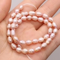natural freshwater pearl beads 5678mm grade a rice shape scattered beads for jewelry making women necklace bracelet gifts
