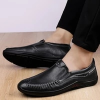 fashion mens casual shoes genuine leather loafers new classic brown black shoe man comfortable breathable driving shoes for men