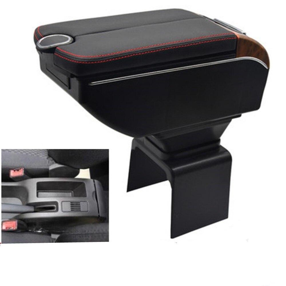 Para Peugeot 307 CC caja de reposabrazos Convertible puertas dobles abrir 7USB consola central almacenamiento caja reposabrazos