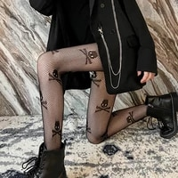 ins different harajuku style women tights gothic loli clubwear girlfriend fishnet stockings sexy black pantyhose medias de mujer