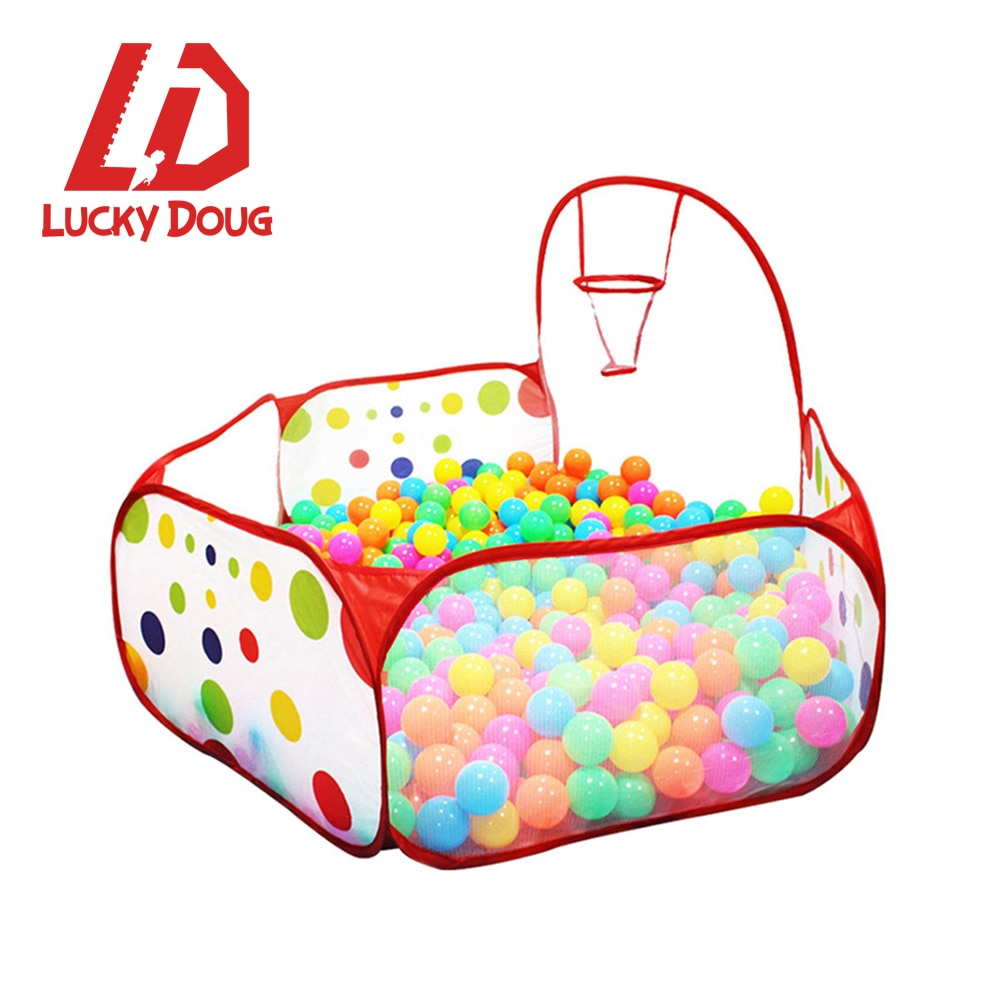 Ball Pool Pit With Basket Ocean Playhouse Baby Playpen Tent Outdoor Toys For Children Foldable Ballenbak Gifts  Summer Party toys tent for kids tunnel ball pool pits ocean series cartoon game portable foldable outdoor sports toys with basket children