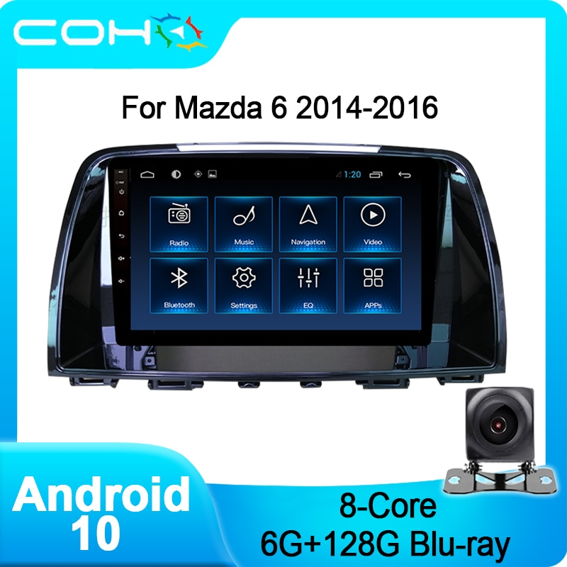 COHO For Mazda 6 2014-2016 Car Multimedia Player Stereo Receiver Auto Radio Android 10.0 Octa Core 6
