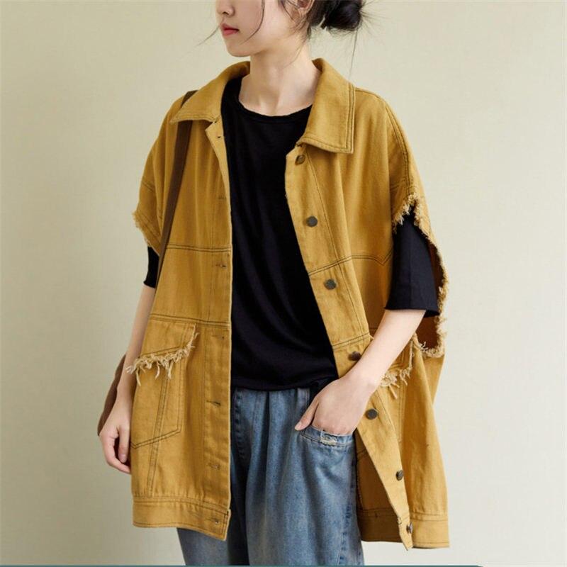 Tapeta holgada felpa tamaño grande franja sin forro Casual brillante línea chaleco mujeres Harajuku moda Vintage chaleco R481