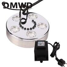 Dmwd led colorido lâmpada mini umidificador ultra-sônico névoa criador fogger fonte de água lagoa atomizador difusor 3/5 cabeça nebulizador ar