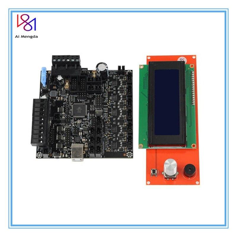 RAMBo-لوحة V1.4 لطابعة Arduino Lulzbot Taz6 ثلاثية الأبعاد ، برامج تشغيل MEGA و Stepper ، الكل في واحد ، PCB متكامل LCD2004