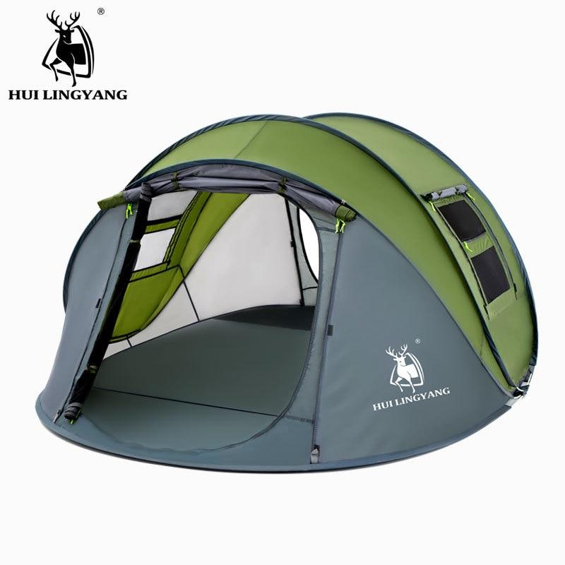 Outdoor Tent 2-3 People Single Layer Rainproof Speed Open Camping Tent