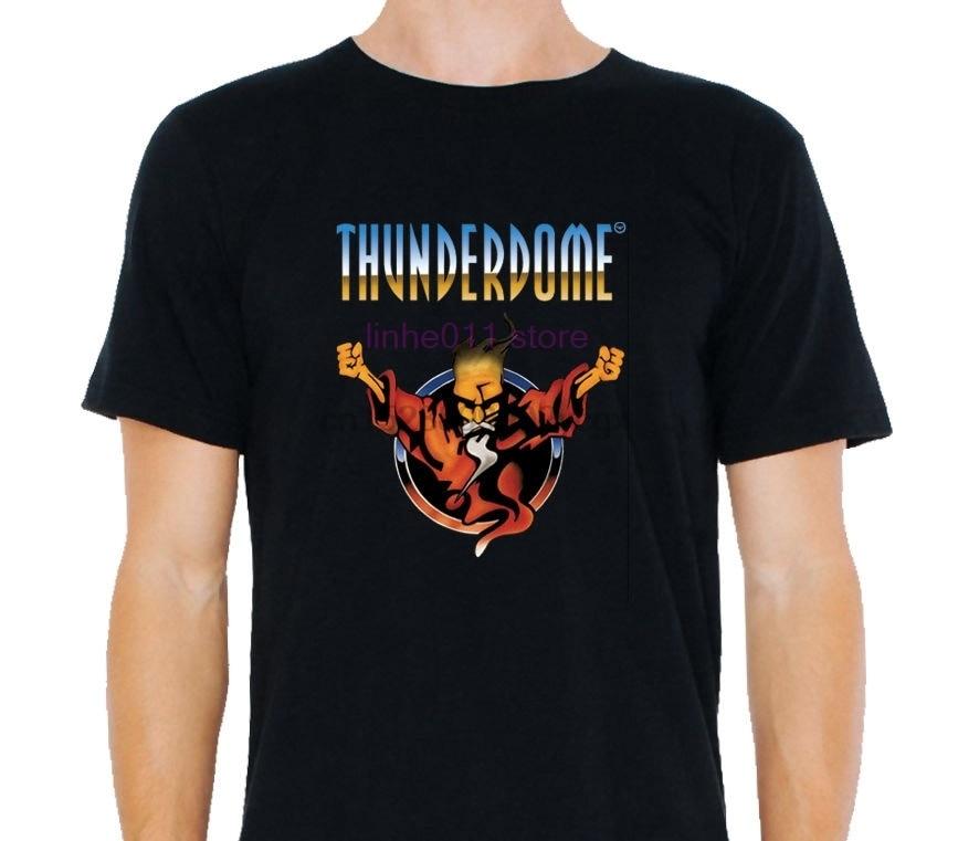 Camiseta thunderdome hardcore techno e gabber masculino preto