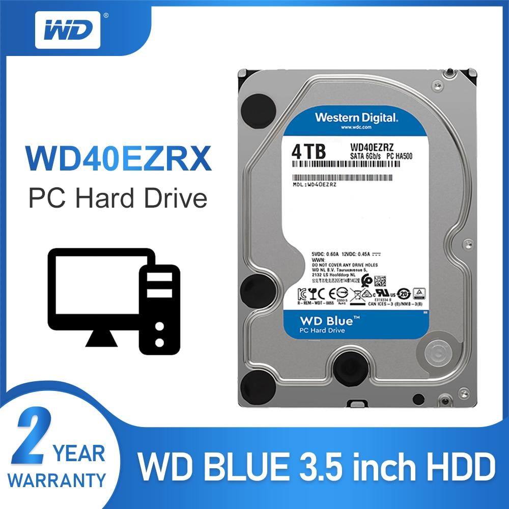 "WD azul Original 4TB Hdd Sata 3,5 ""disco duro interno HDD para PC WD40EZRZ Western Digital 4tb hdd disco duro de escritorio"