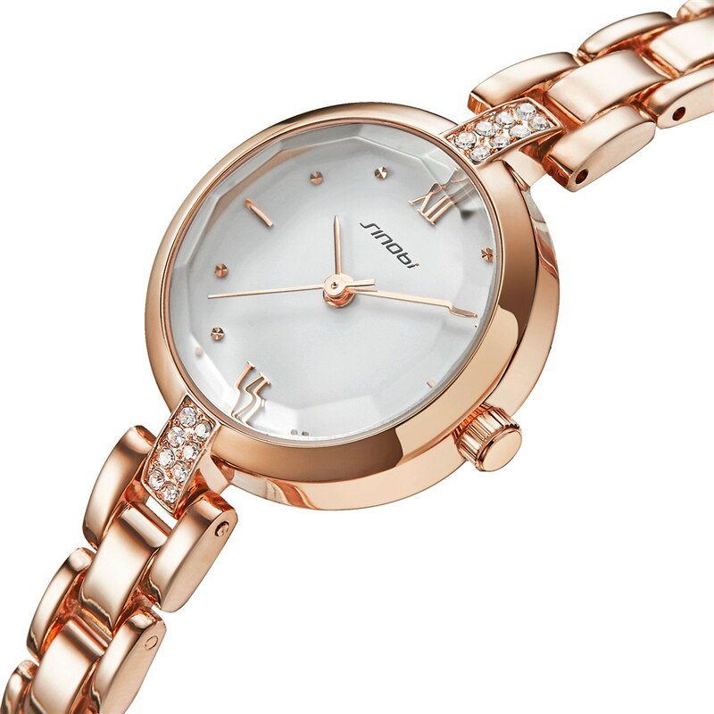 Sinobi New Women Watches Fashion Design Golden Small Dial Waterproof Quartz WristWatches Ladies Watch Female Clock Dropshipping