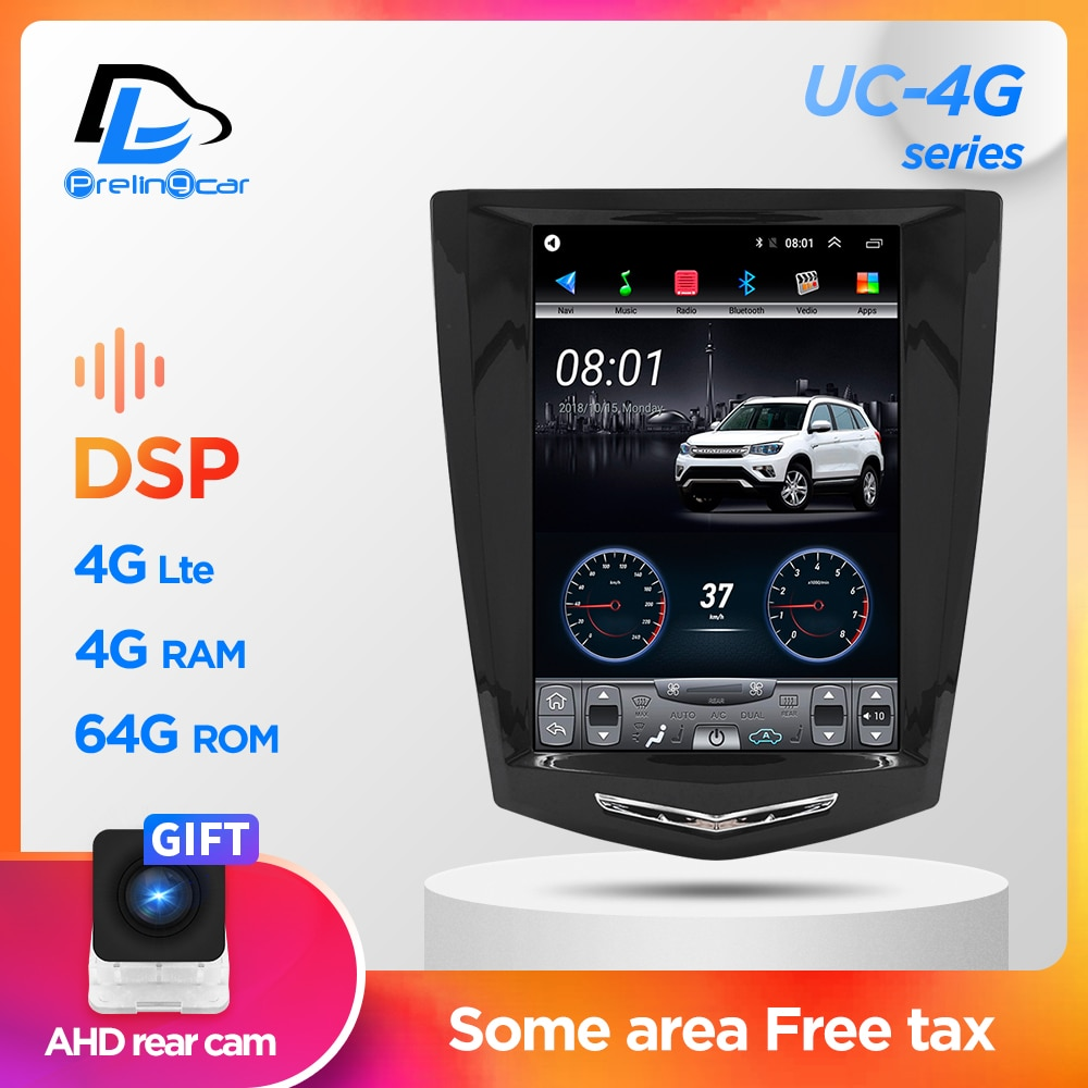Auto Radio Multimedia Navigatio Video Player Für Cadillac ATS XTS CTS SRX Tesla stil Vertikale Bildschirm Stereo Keine 2 din android 9,1