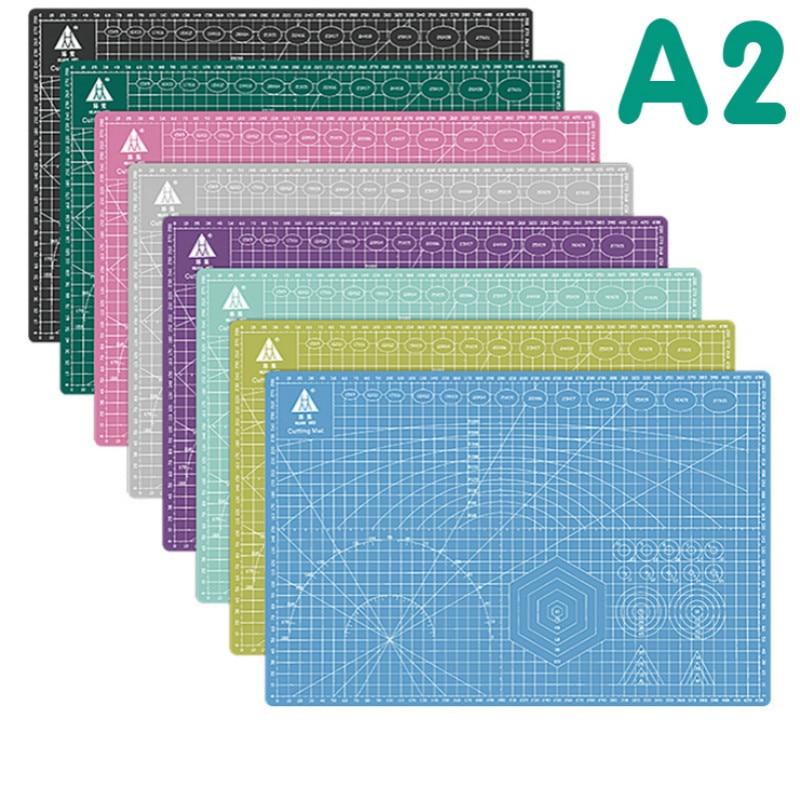 A2 Cutting Mat Board Grid Line Self-healing 60*45cm Multi-color Double Sided Desktop Cutting Pad Mat Cricut Maker Cutting Plate