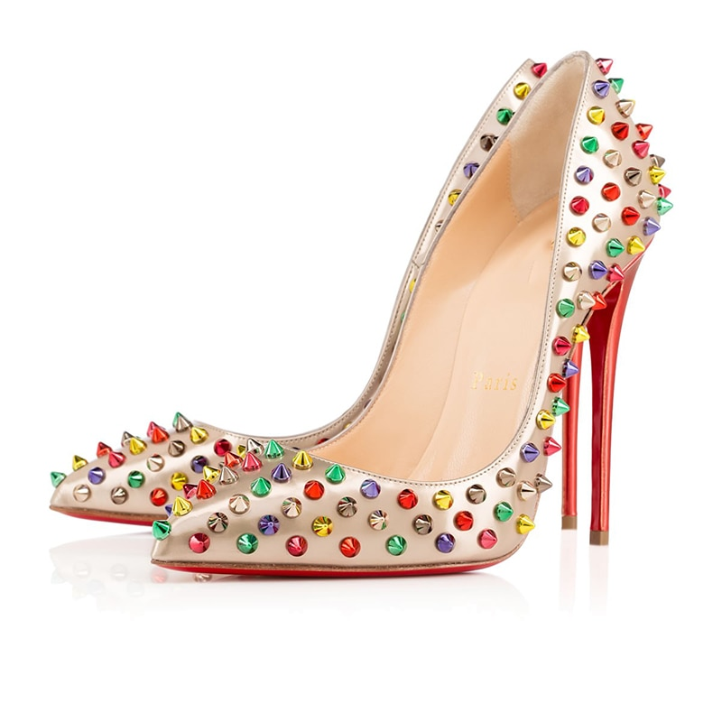 Luxury Sexy Platform Clear Plating Women High Heels 8 10 12cm Ladies Mules Red Bottom Wedding Party
