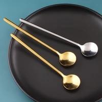 1517cm honey spoons coffee mixing spoon salad set korea soup long handled teaspoon scoop gadget kitchen tools accessoires