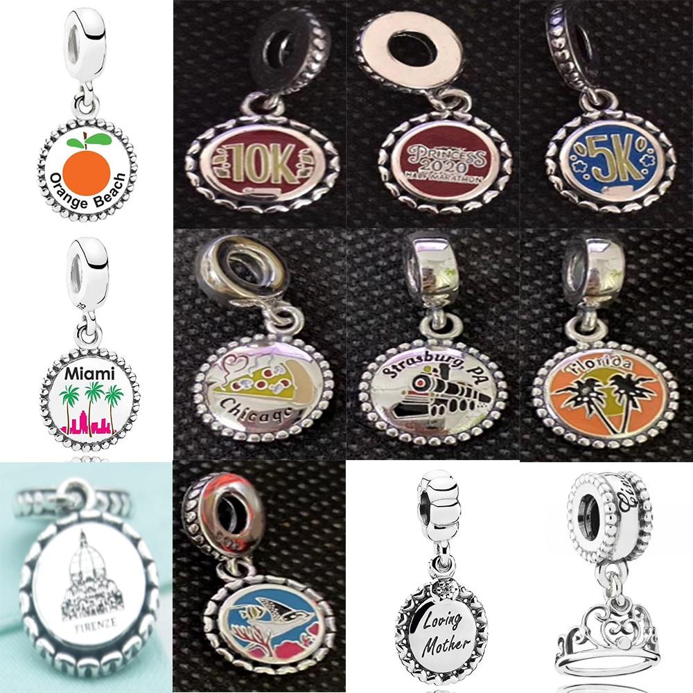Novo 2020 100% 925 prata esterlina verão flor parque pingente charme caber diy feminino europa pulseira original moda jóias presente