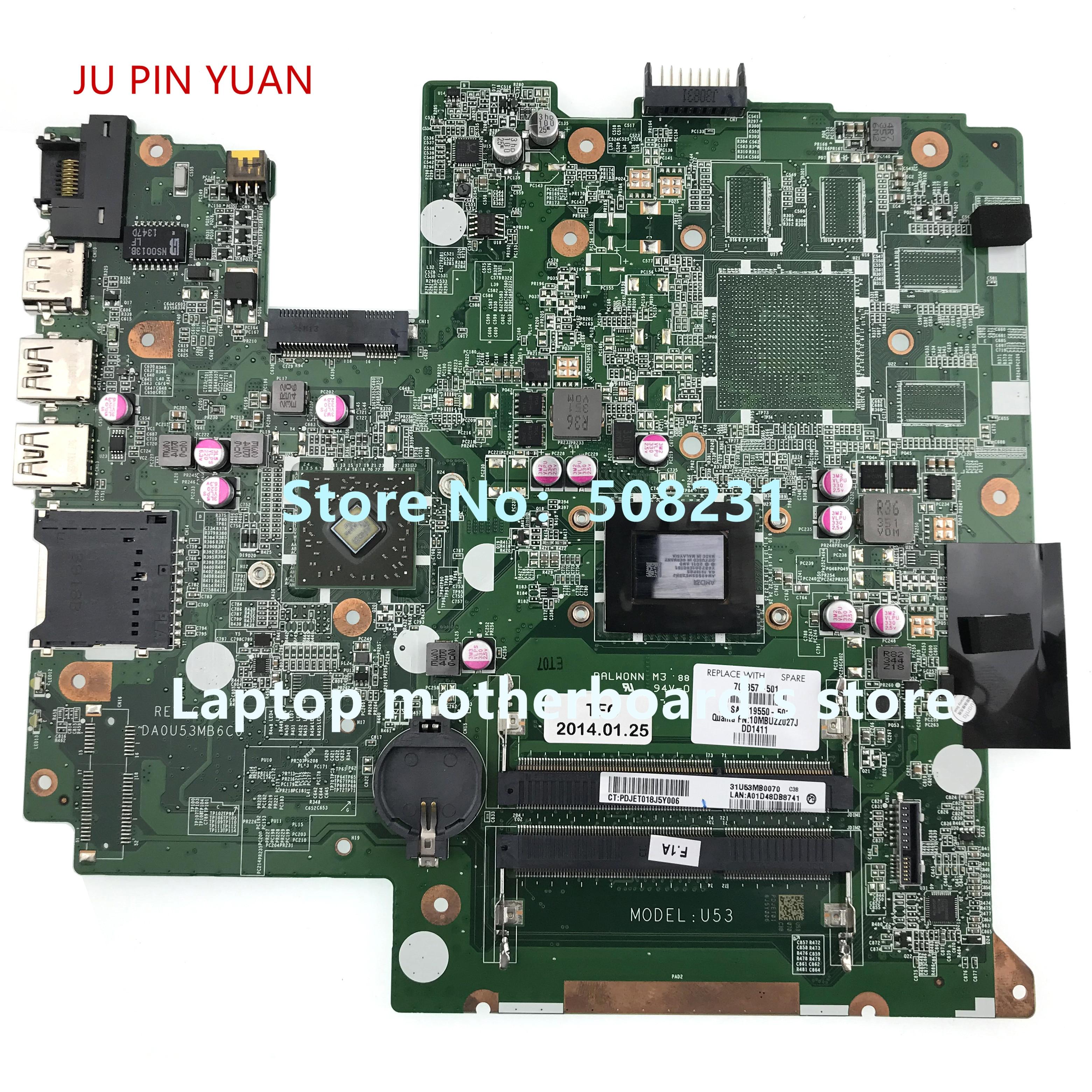 703857-501 703857-001 DA0U53MB6C0 UMA A70M مع A4-4355M CPU مجلس ل HP جناح 14-B سلسلة الكمبيوتر الدفتري المحمول اللوحة