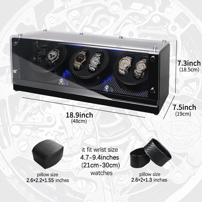 Watch Winder Box Mechanical Automatic Watch Display For Luxury Men Watches enlarge