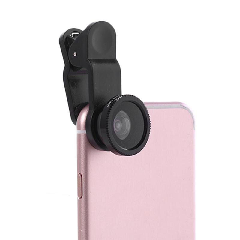 3 in 1 Mobile Phone Camera Lens Kits Wide Angle Macro Fisheye Lenses Ultra-Portable Mobile Fish Eye