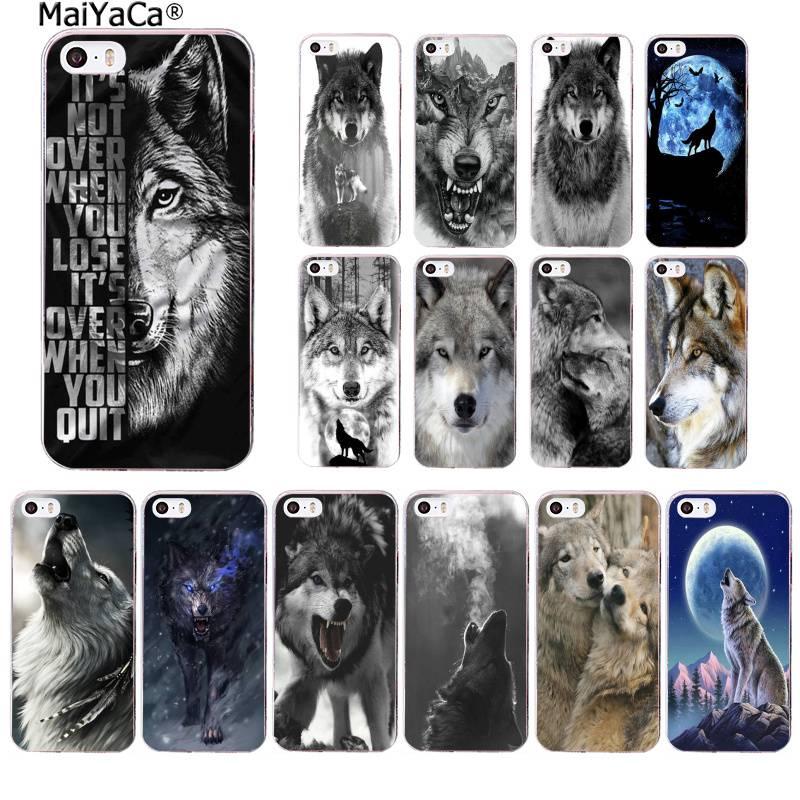 MaiYaCa clásico Lobo fresco Hipster de la cubierta de la caja del teléfono para iphone SE 2020 11 pro XS MAX 8 7 6 6S Plus X 5 5S SE XR