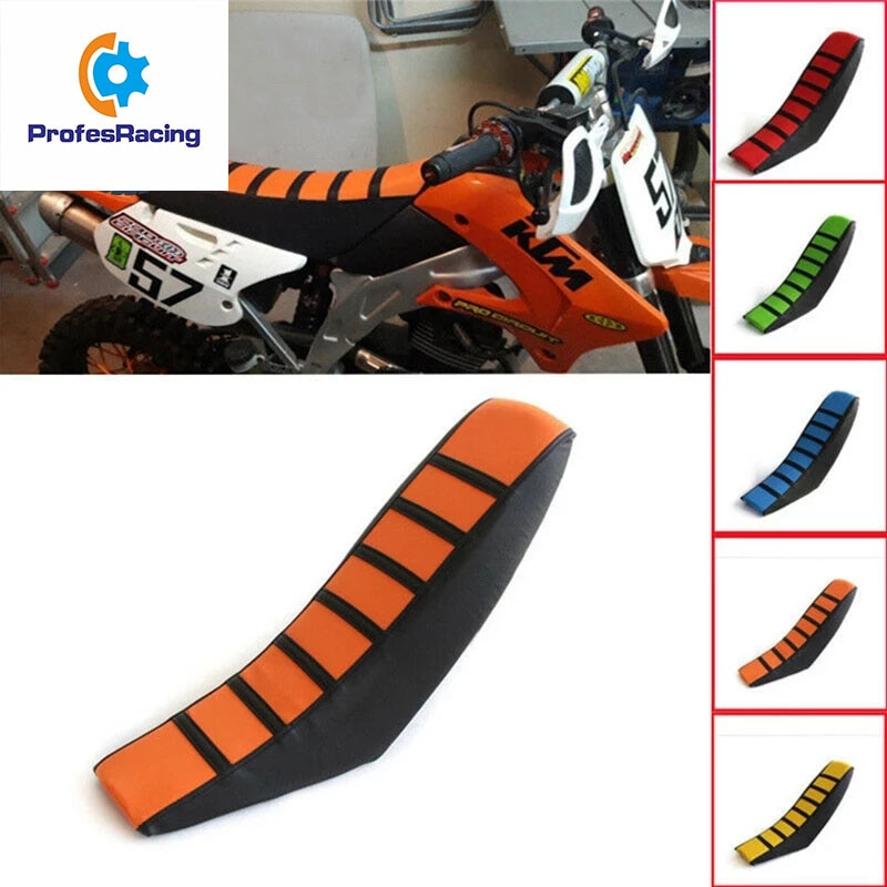 Universal Motorcycle Seat Cushions Seat Cover Gripper Soft Off-road for SX XC EXC XC-W SX-F 85 105 125 150 200 250 300 350