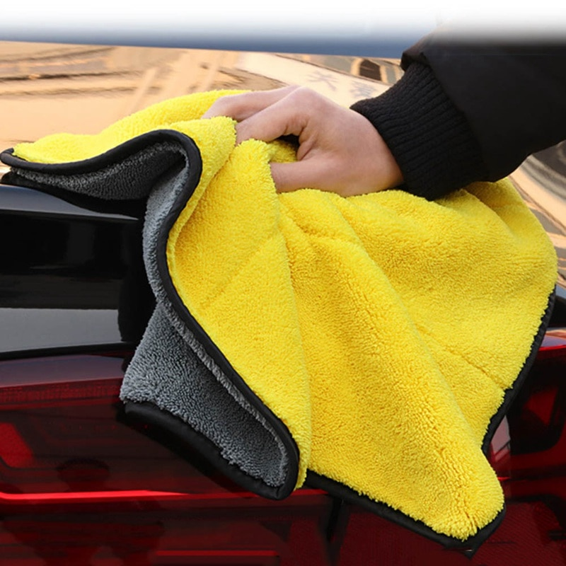 30/40/60 см автомойки микрофибра Полотенца чистки автомобиля сушка ткань с каймой, для ухода за автомобилем ткань с подробным описанием Автомо...