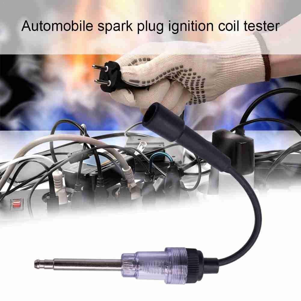 White Color Spark Plug Tester Ignition System Coil Kit In Engine Diagnostic Line Auto Test H4K1