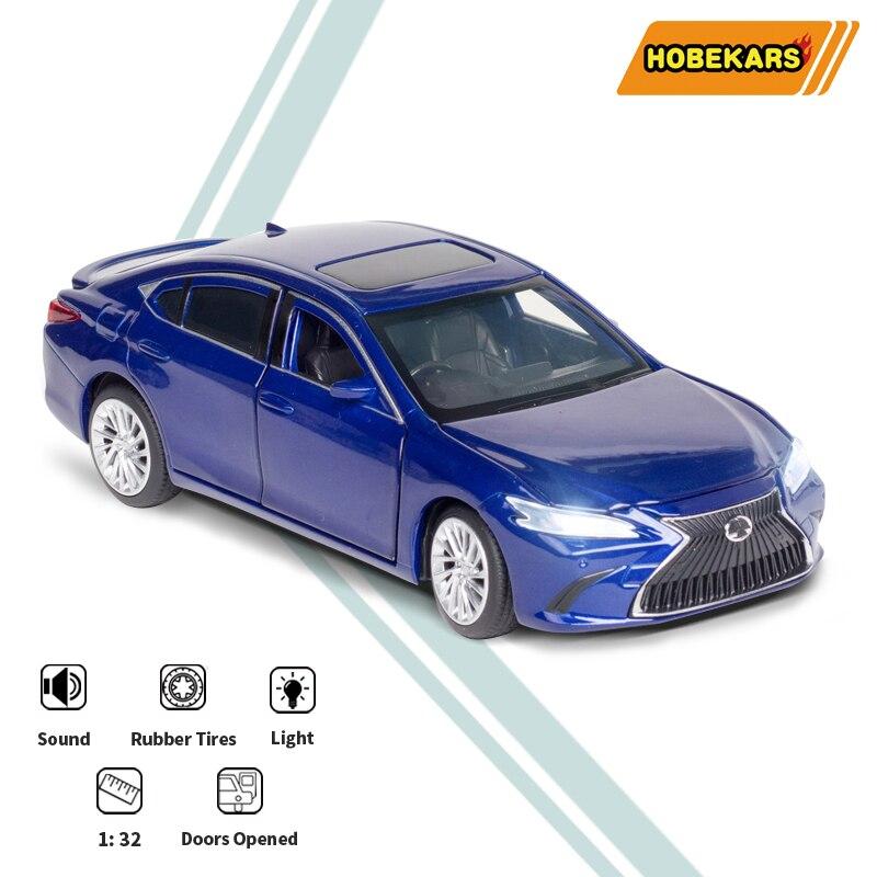 HOBEKARS 132 литой под давлением сплав модель автомобиля ES300H моделирование металла игрушки транспортные средства с светильник и звук 6 открытая ...
